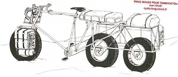 La Tricyclette - Dessin de Jean NAUD