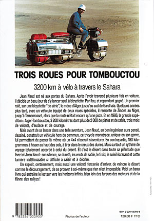 Trois roues pour Tombouctou - Jean NAUD