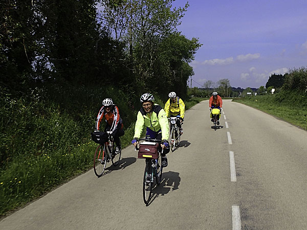 Christian CARIOU, Jean-Jacques TREGUER, Albert MARCHETTO, Roger TARDIEU, 18 mai 2013 ©cyclo-long-cours.fr