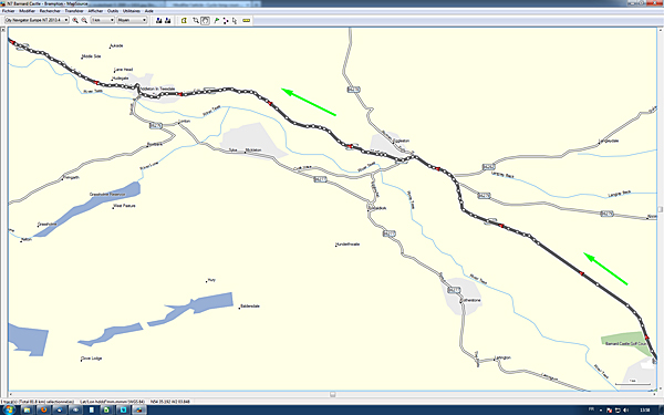 LEL2013 : extrait trace GPS