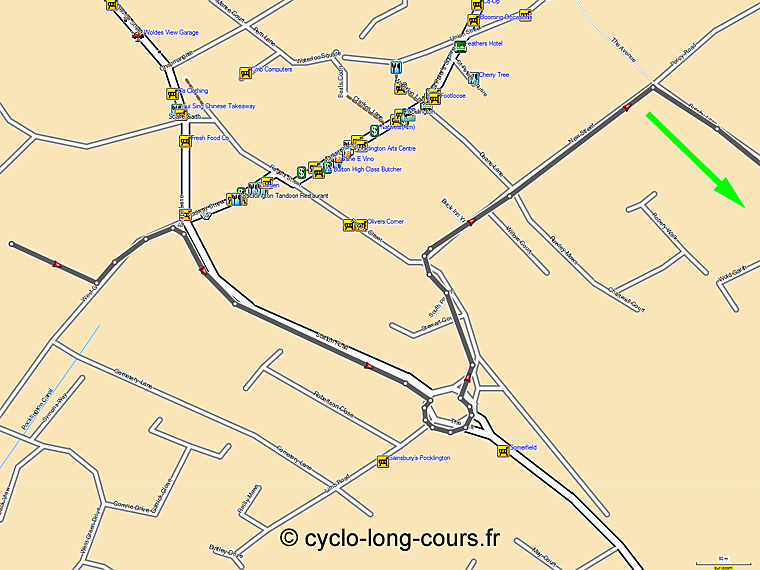 Trace GPS retour (S5) : Pocklington