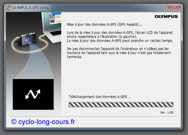 Olympus A-GPS Utility  ©cyclo-long-cours.fr