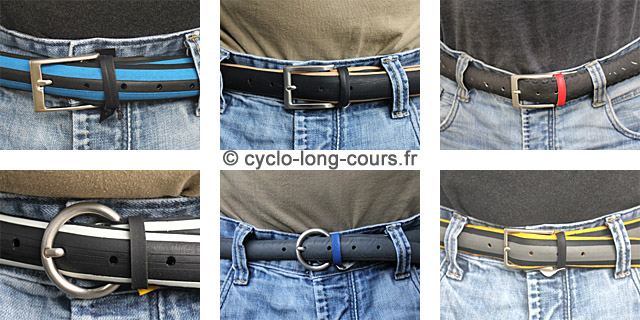 Ceintures en pneus vélo recyclés ©cyclo-long-cours.fr