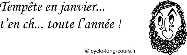 Cyclogito n°05 - Tempête en janvier ©cyclo-long-cours