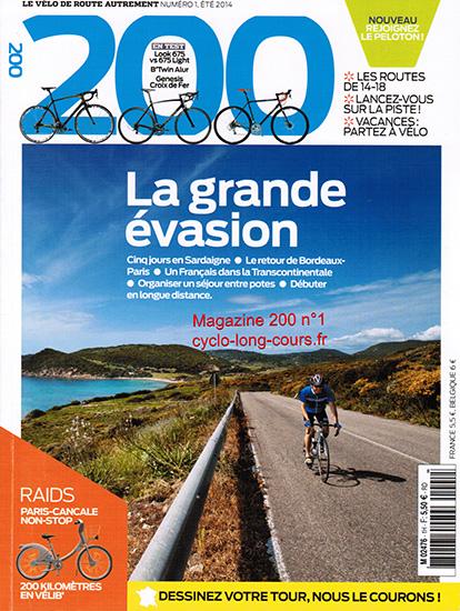 Magazine 200, n°1 - Eté 2014 ©cyclo-long-cours.fr