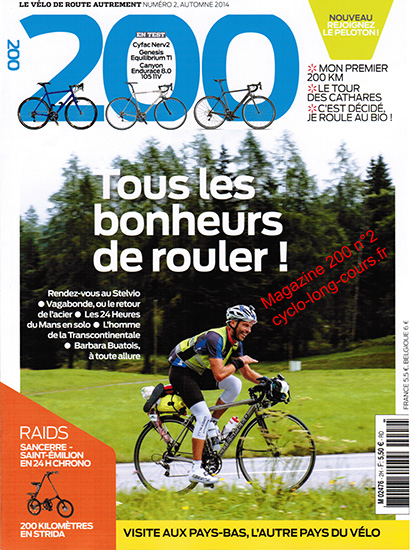 Magazine 200, n°2 - Automne 2014 ©cyclo-long-cours.fr