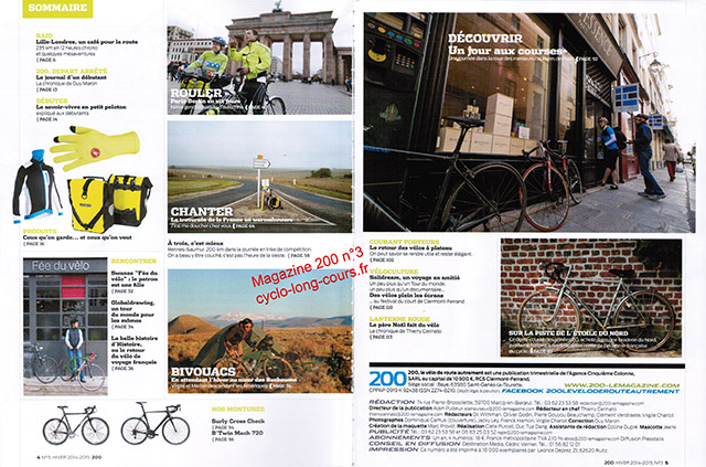 Magazine 200 : sommaire du n°3 ©cyclo-long-cours.fr
