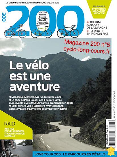 Magazine 200, n°5 - Eté 2015 ©cyclo-long-cours.fr