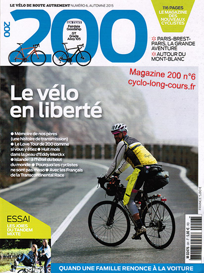 Magazine 200, n°6 - Automne 2015 ©cyclo-long-cours.fr