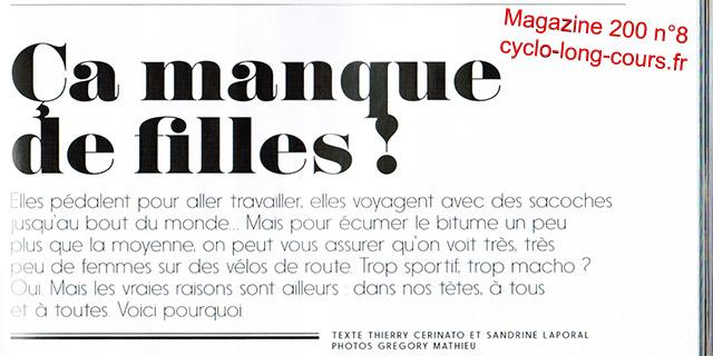 Magazine 200 n°8 - Page 30 : Ça manque de filles !