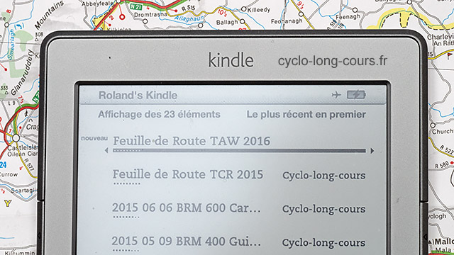 Road-book électronique TAW 2016