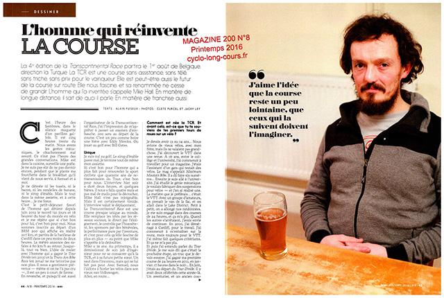 Magazine 200 n°8, entretien avec Mike Hall