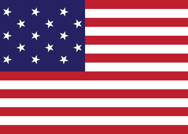 Drapeau des États-Unis du 1er mai 1795 au 3 juillet 1818 (15 étoiles et 15 bandes)
