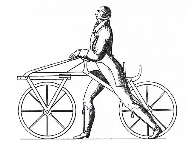 Gravure représentant Karl DRAIS à l'été 1817