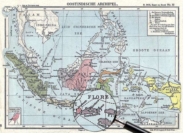 Carte des Indes orientales néerlandaises