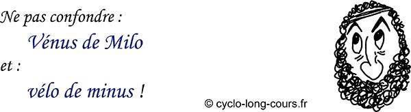 Cyclogito n°12 - Vénus de Milo / Vélo de minus ©cyclo-long-cours