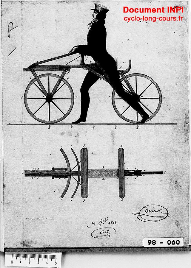 Gravure descriptive du Vélocipède