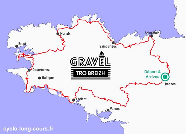 Parcours Gravel Tro Breizh 2018