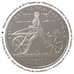 Draisienne : pièce commémorative de 20 euros
