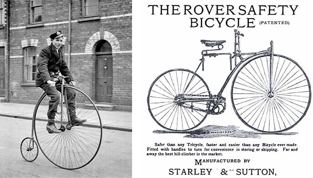 Grand bi et bicyclette de sécurité