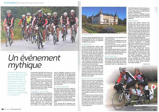 Revue Cyclotourisme n°685 - Décembre 2019 pages 58-59