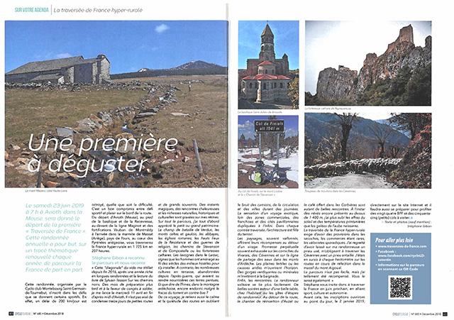 Revue Cyclotourisme n°685 - Décembre 2019 pages 60-61