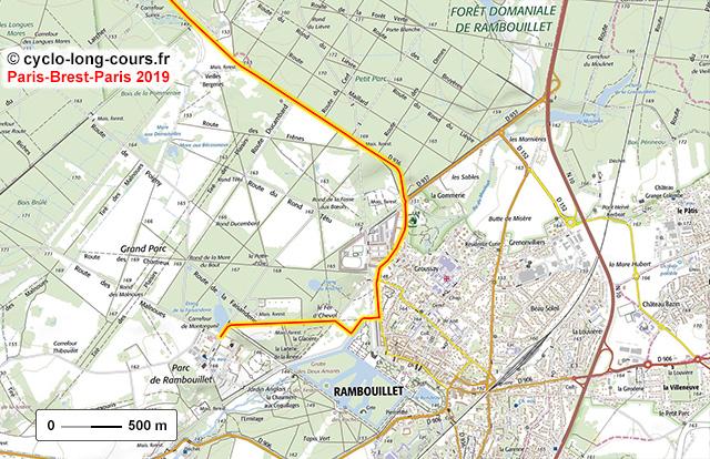 PBP 2019 : carte de Rambouillet