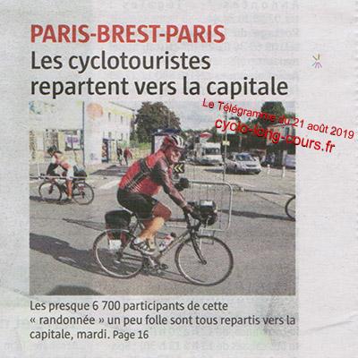 Paris-Brest-Paris - Le Télégramme du 21 août 2019