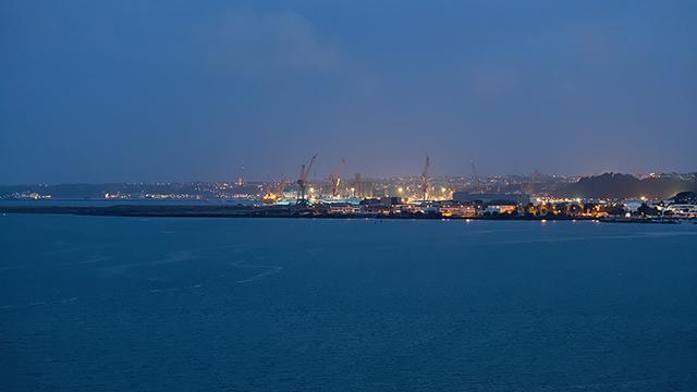 Brest vu du pont Albert Louppe
